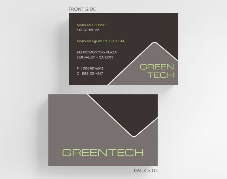 Clean Triad Business Card Credit Card Size - Business Cards