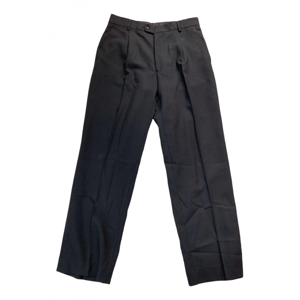 Pantalones en Algodon Negro Kenzo