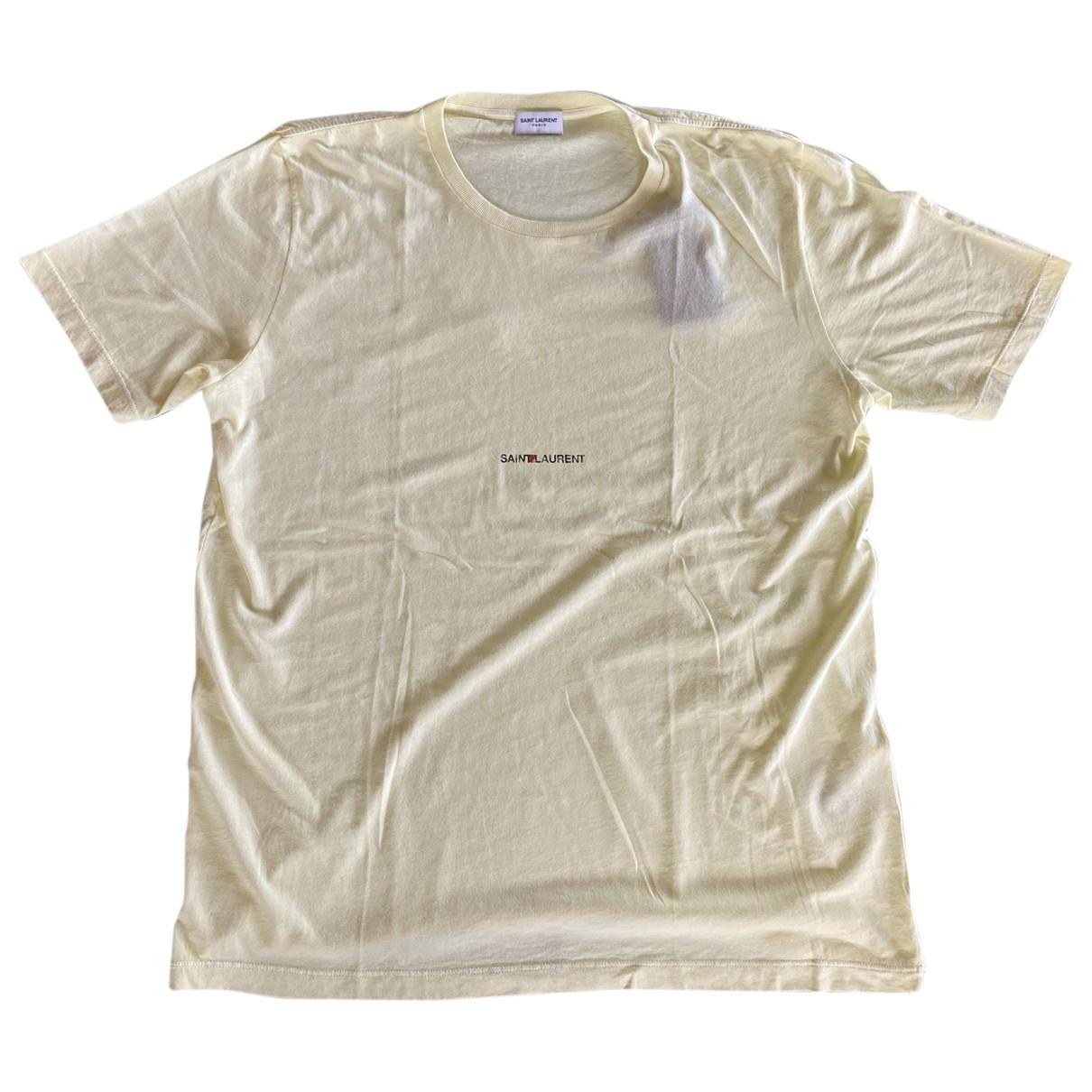 Saint Laurent - Tee shirts   pour homme en coton - jaune