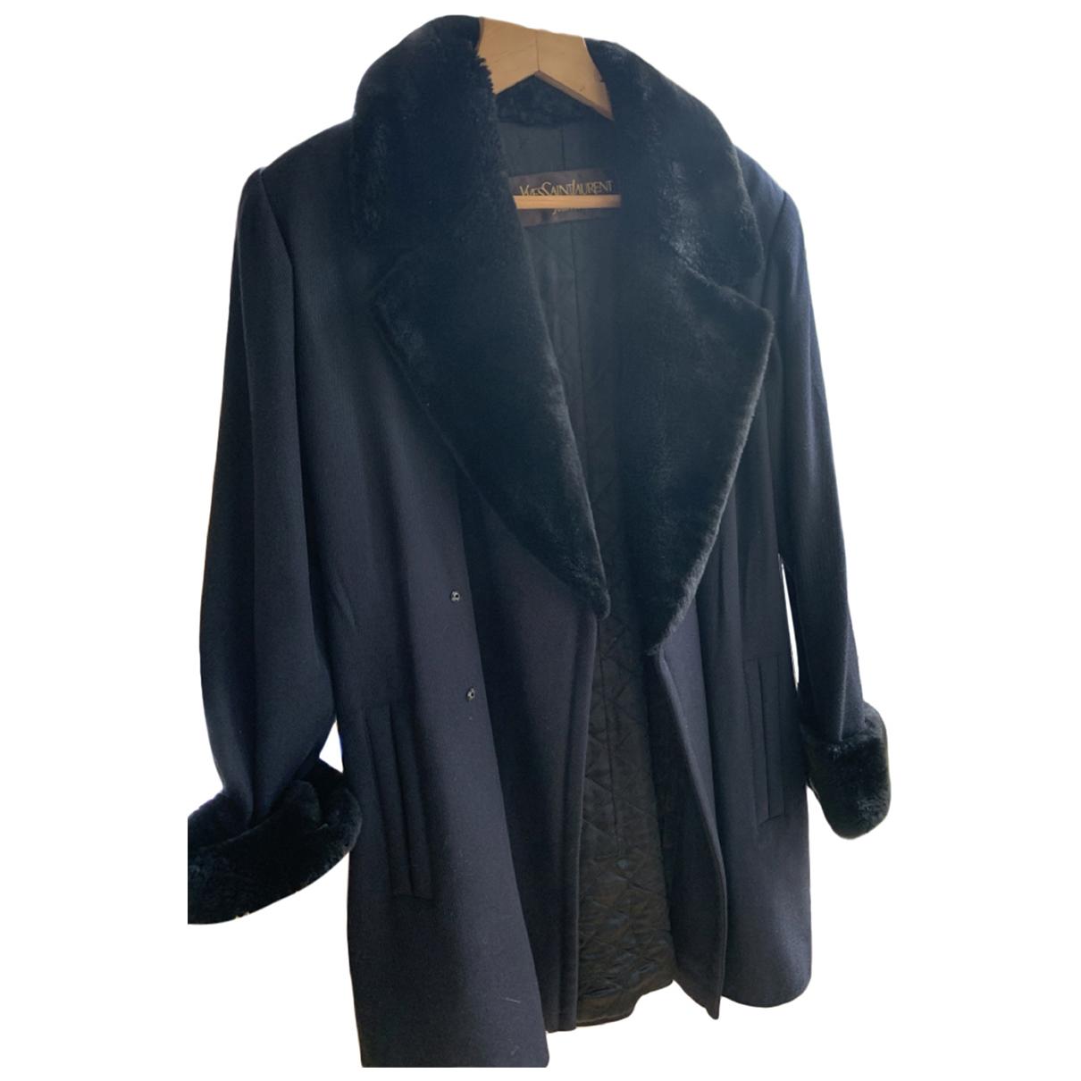 Yves Saint Laurent - Manteau   pour femme en laine - marine