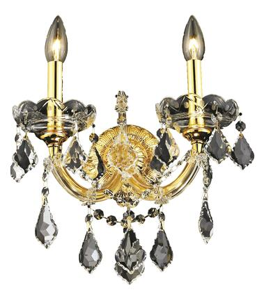 2800W2G/SS 2800 Maria Theresa Collection Wall Sconce W12in H12in E8.5in Lt: 2 Gold Finish (Swarovski Strass/Elements