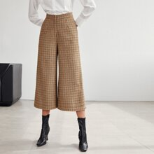 Reissverschluss  Hahnentrittmuster Elegant Hosen