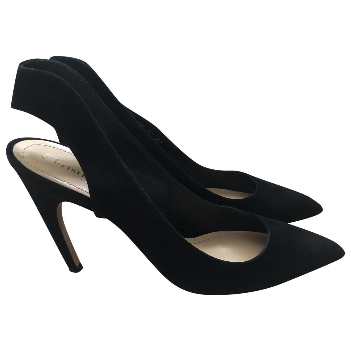 Dior \N Black Suede Heels for Women 37 EU