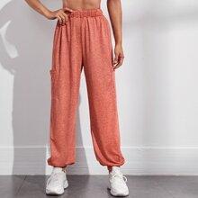 Sports Hose mit Marmor Muster und zwei Taschen