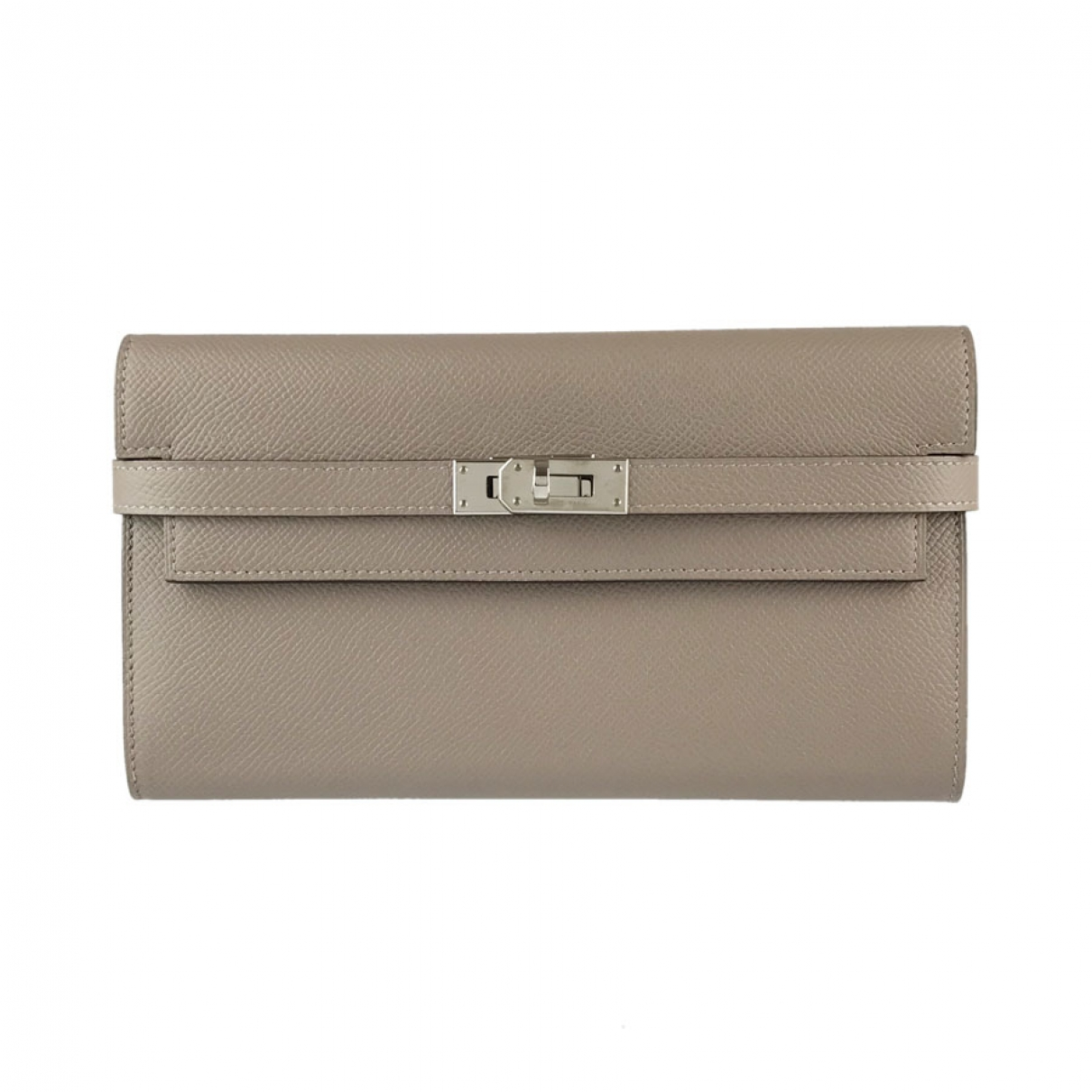 Hermès Kelly Grey Leather wallet for Women \N