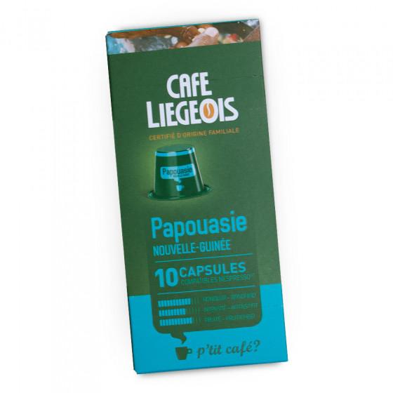 "Kaffeekapseln Cafe Liegeois ""Papouasie"", 10 Stk."