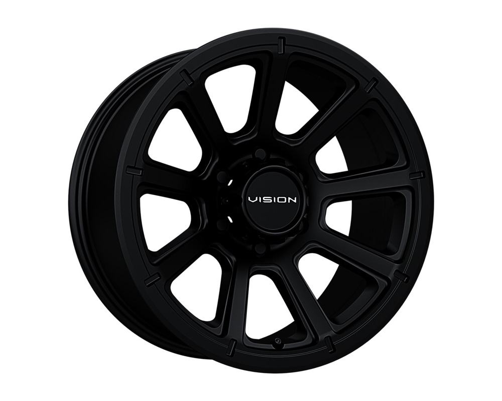 Vision Turbine Matte Black Wheel 20x9 8x165.1 12