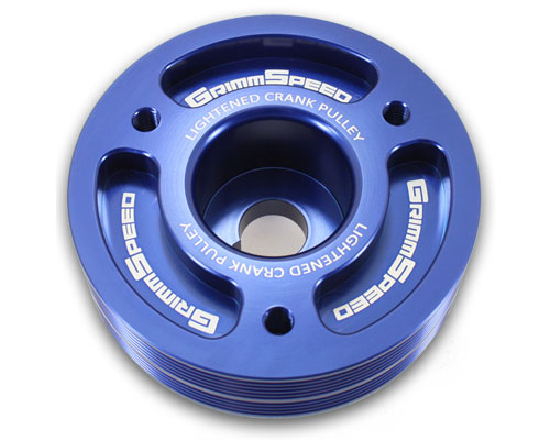 GrimmSpeed 095015B Blue Lightweight Crank Pulley Subaru Forester XT 04-13