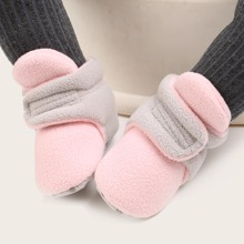 Baby Boy Color Block Velcro Strap Ankle Boots