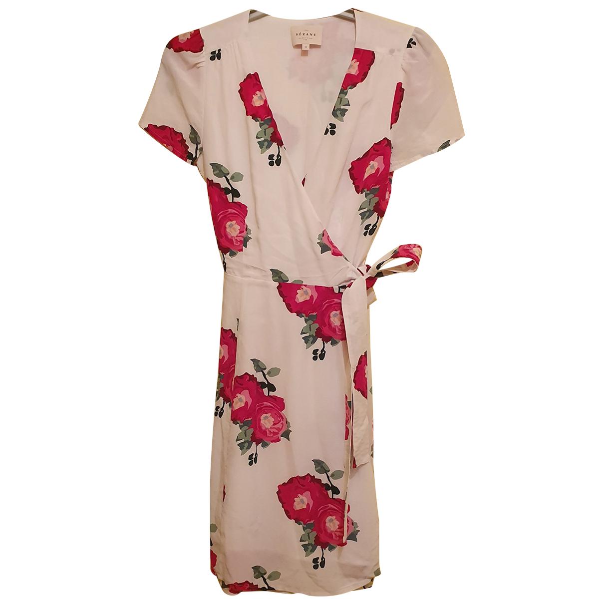Sézane N White Silk dress for Women 34 FR