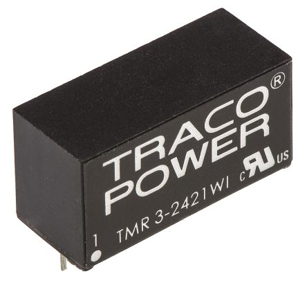 TRACOPOWER TMR 3WI 3W Isolated DC-DC Converter Through Hole, Voltage in 9 → 36 V dc, Voltage out ±5V dc