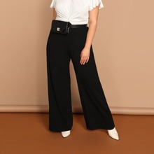 Pantalones anchos lisos - grande
