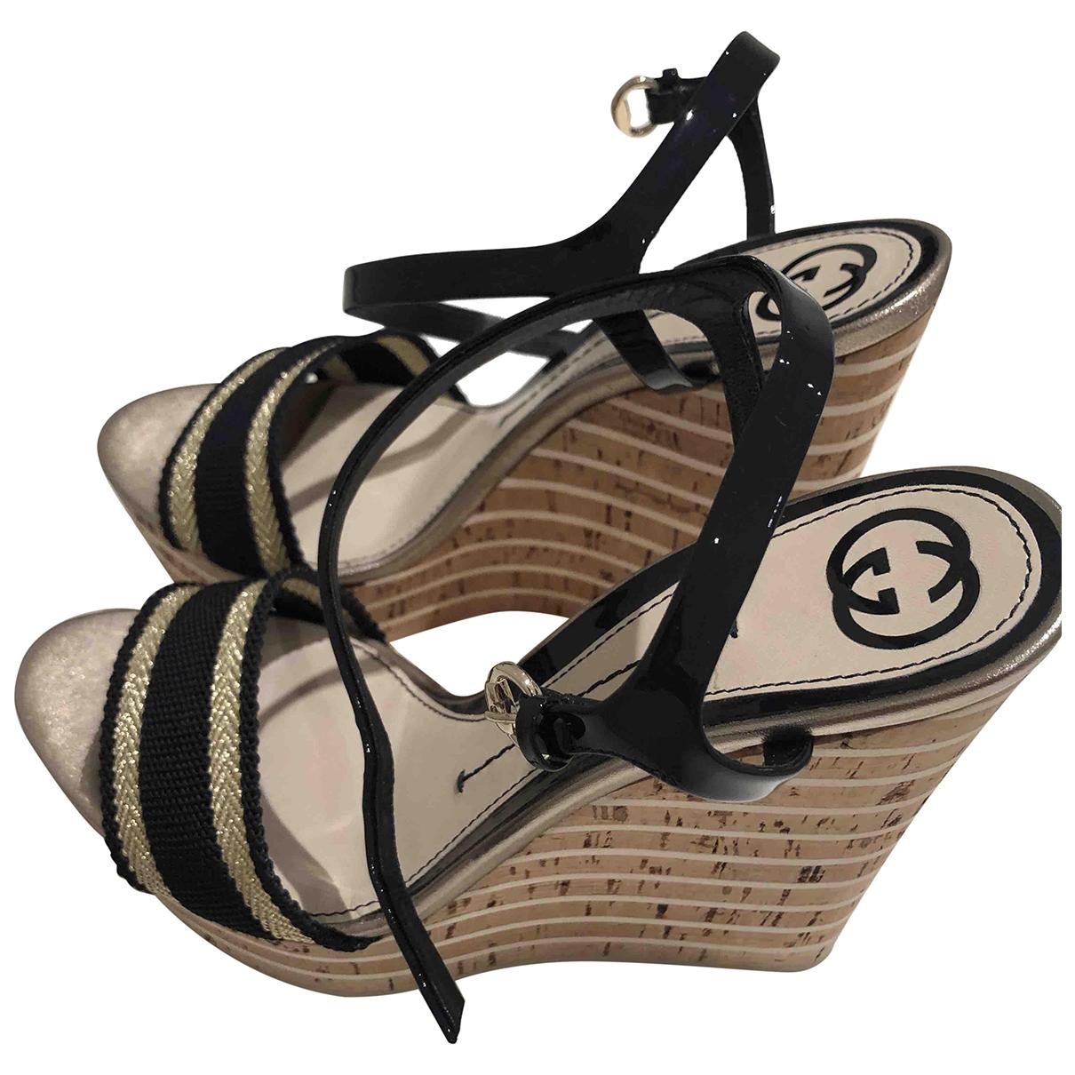 Gucci - Sandales   pour femme en toile - noir
