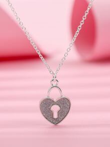 Toddler Girls Heart Charm Necklace