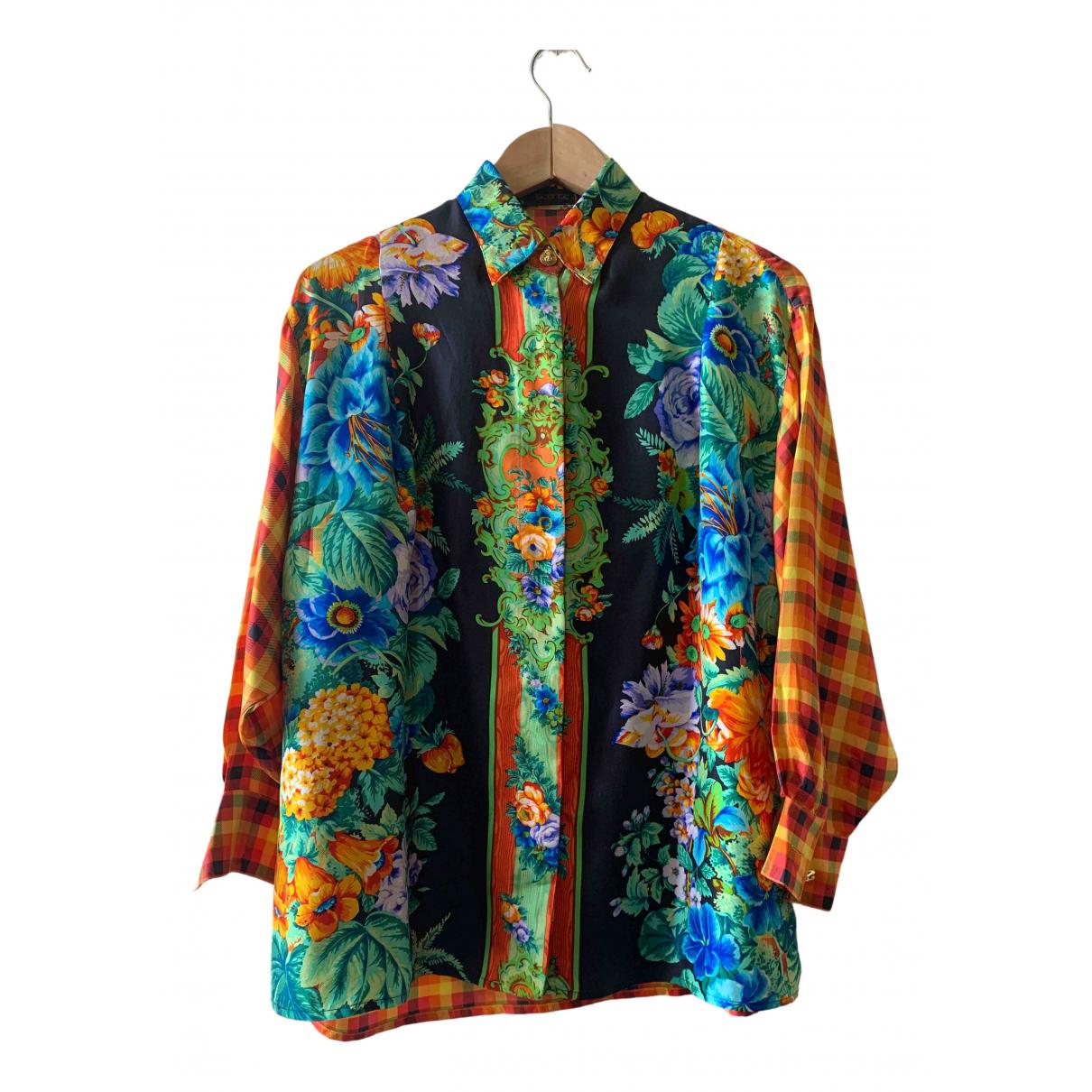 Istante - Top   pour femme en soie - multicolore