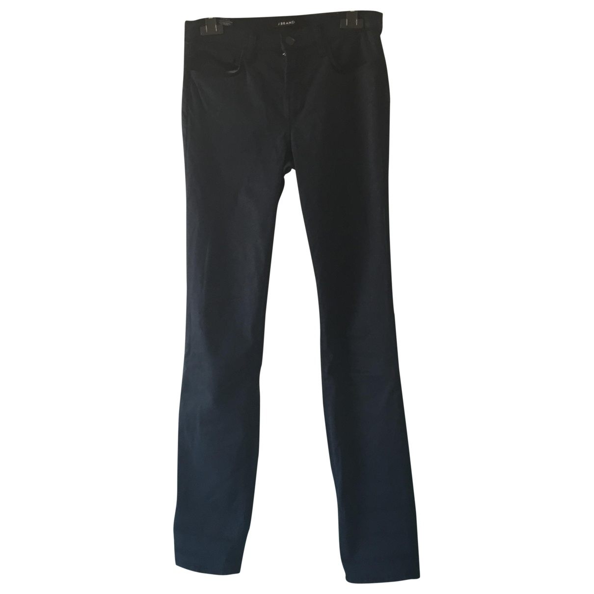 J Brand \N Blue Cotton Trousers for Women 36 FR