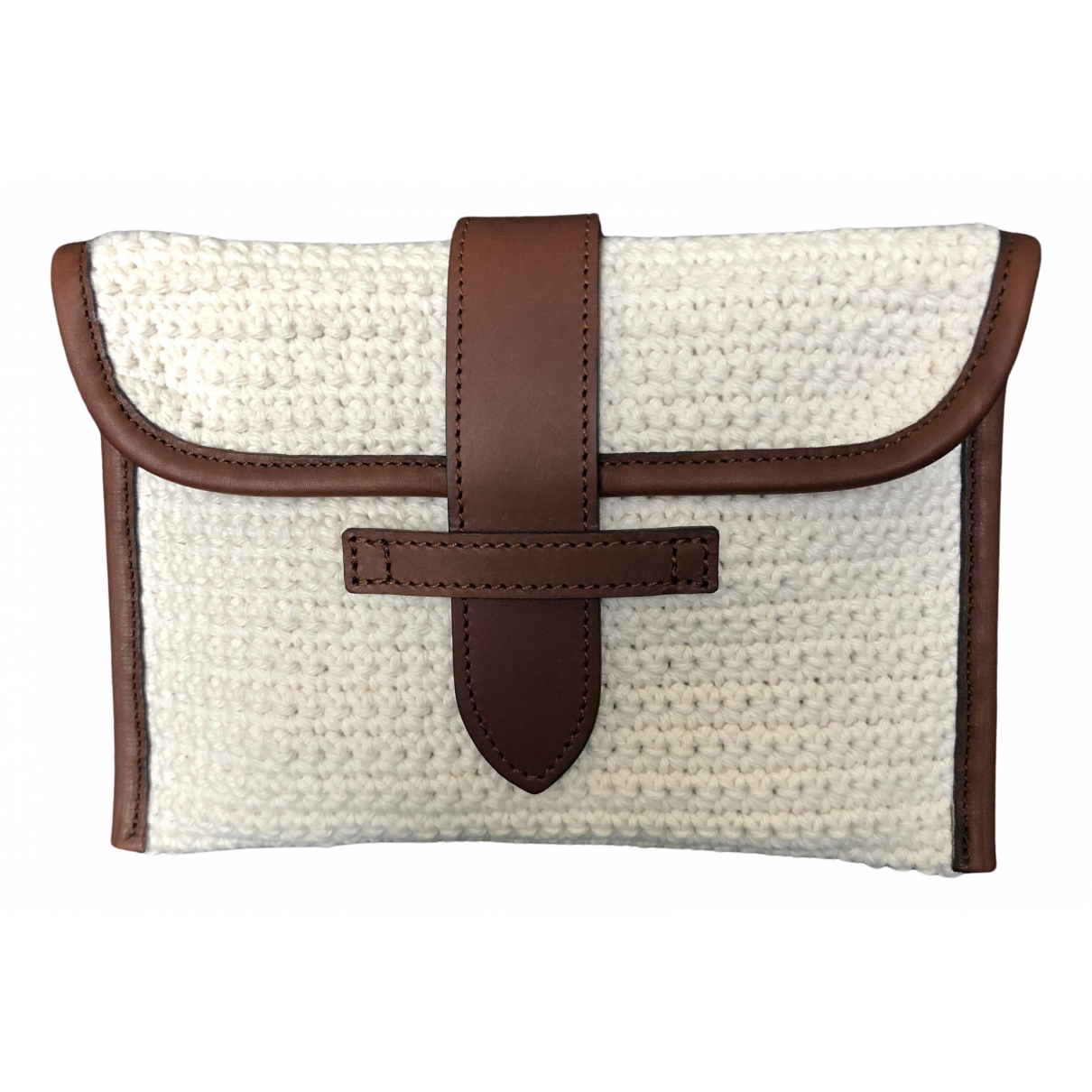 Non Signé / Unsigned N Ecru Cotton Clutch bag for Women N