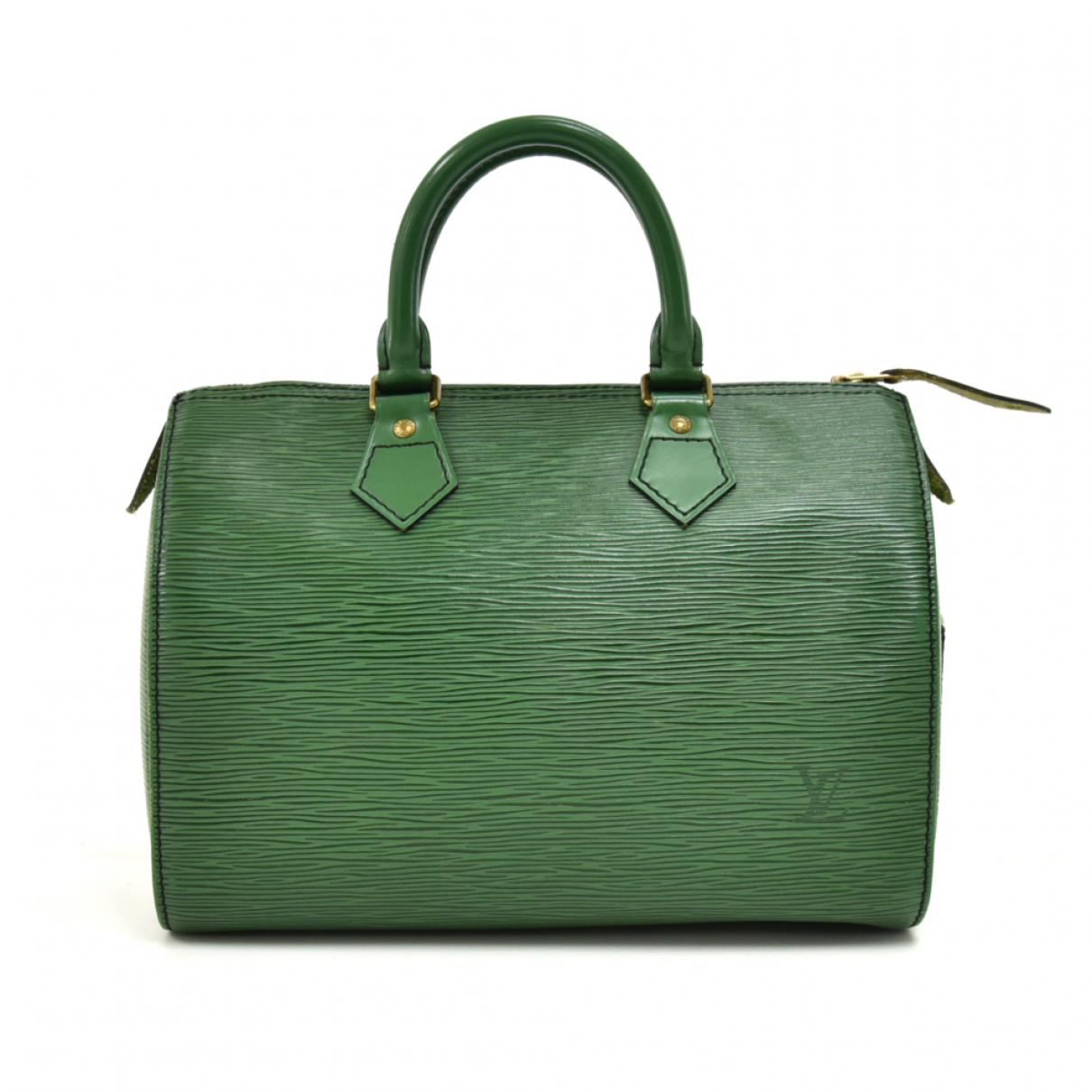 Louis Vuitton Speedy Green Leather handbag for Women N