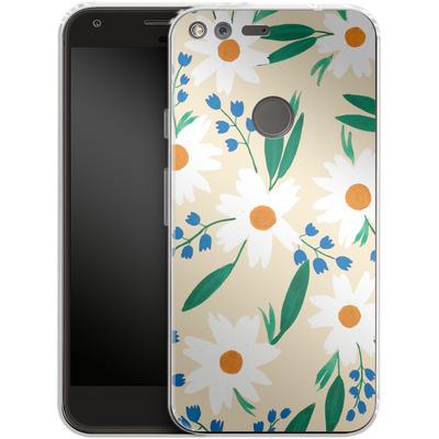 Google Pixel XL Silikon Handyhuelle - Daisy Chain von Iisa Monttinen
