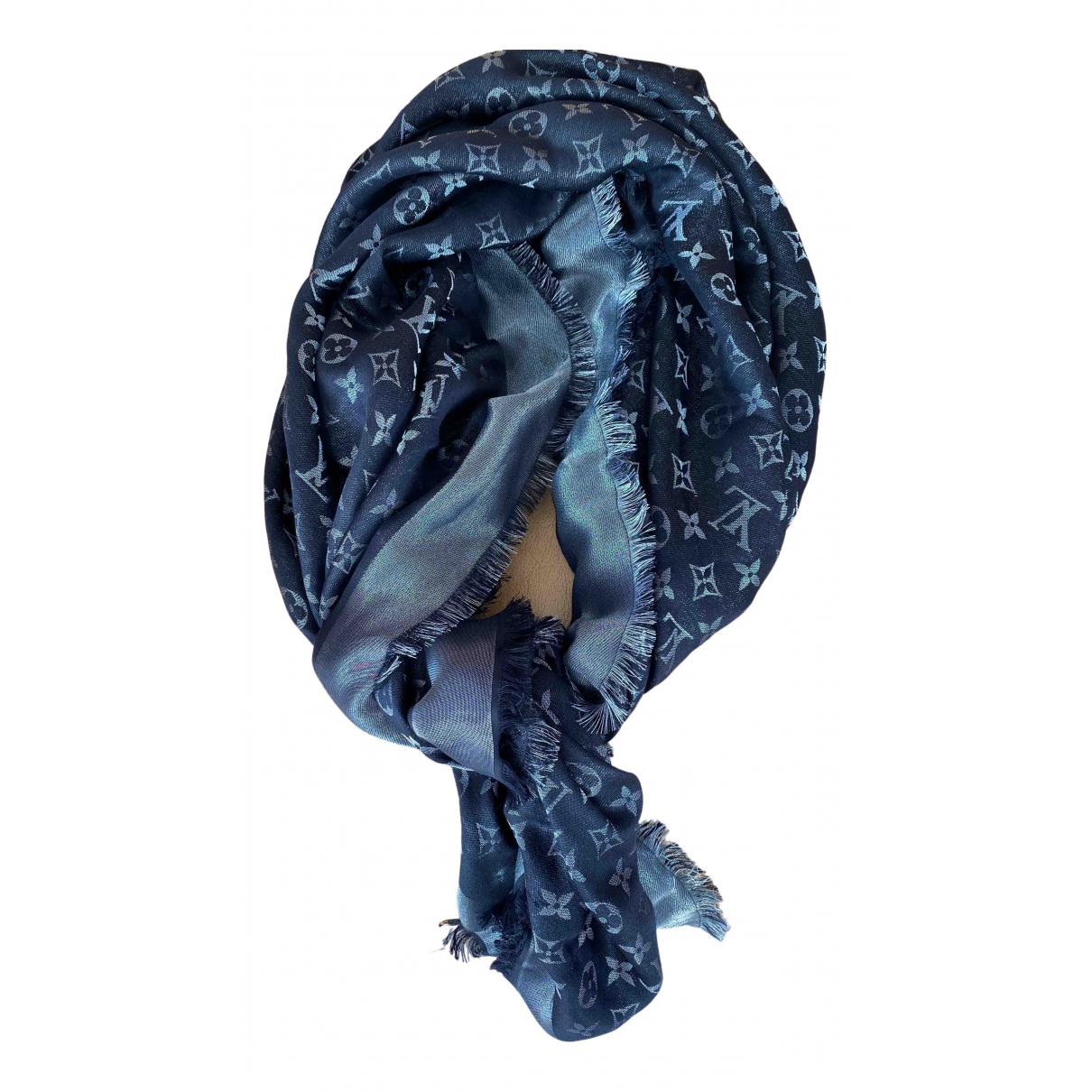 Louis Vuitton - Foulard Chale Monogram shine pour femme en soie - noir