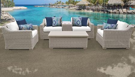 Coast Collection COAST-06d-WHITE 6-Piece Patio Set 06d with 1 Cup Table   1 Storage Coffee Table   2 Club Chair   1 Left Arm Chair   1 Right Arm