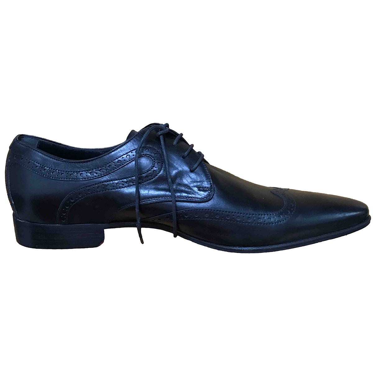 D&g \N Black Leather Lace ups for Men 43 IT