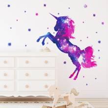 Pegatina de pared con estampado de unicornio