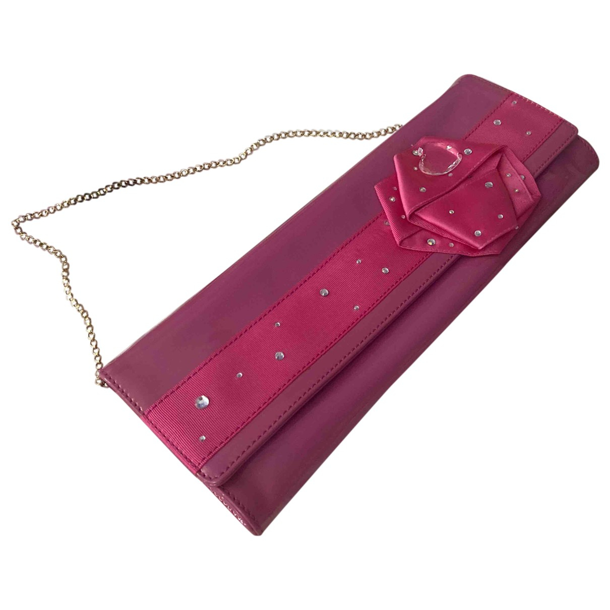 Versus \N Pink Patent leather Clutch bag for Women \N