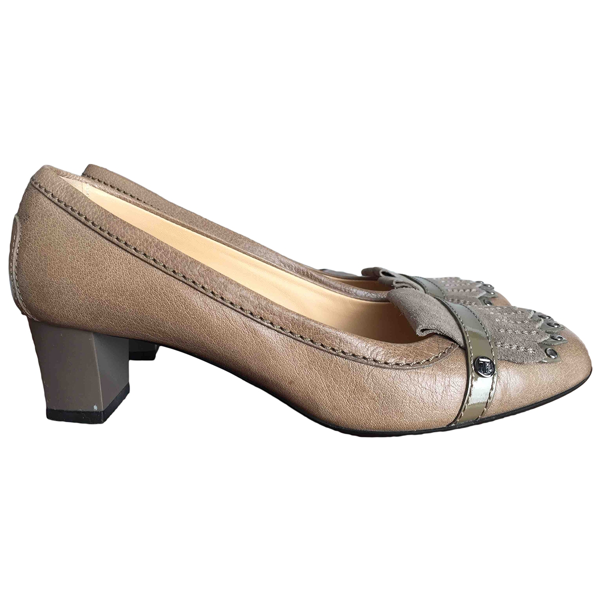 Tod's \N Camel Leather Heels for Women 37 EU
