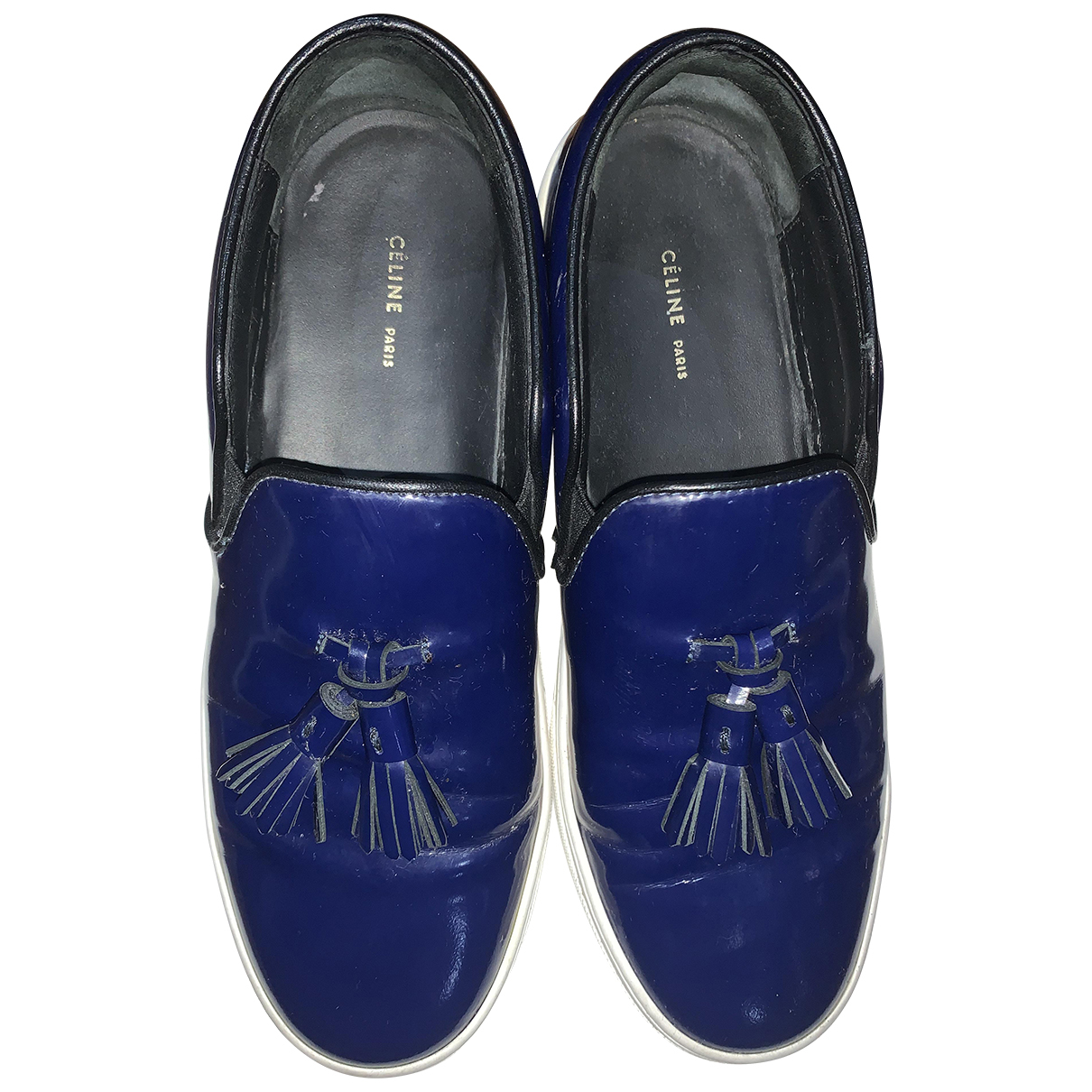 Celine \N Navy Leather Trainers for Women 38 EU