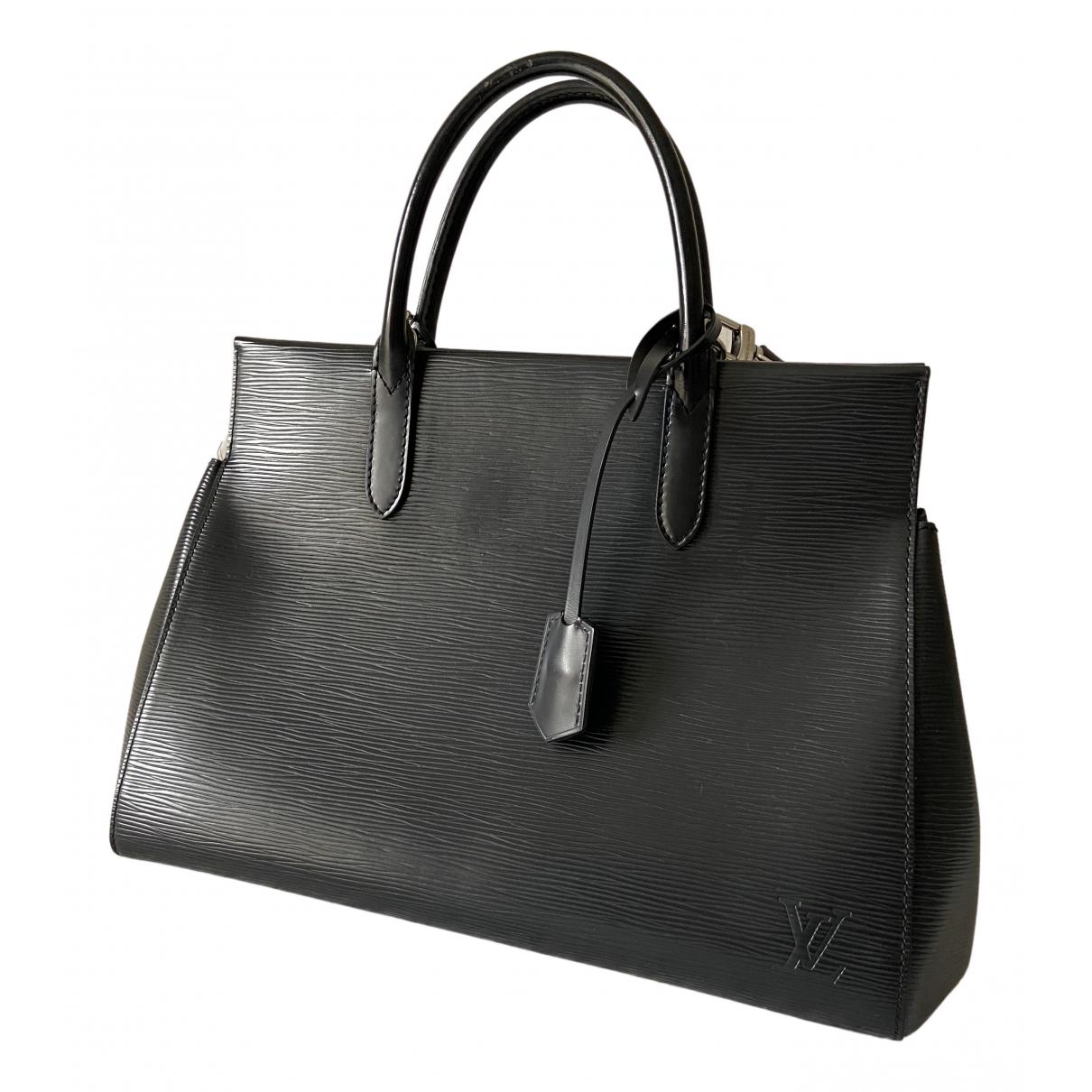 Louis Vuitton - Sac a main Marly pour femme en cuir - noir