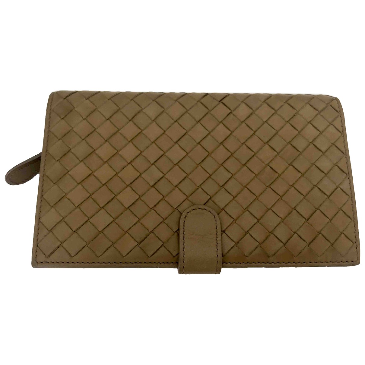 Bottega Veneta Intrecciato Beige Leather wallet for Women \N