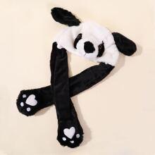 Kleinkind Hut mit Karikatur Panda Design