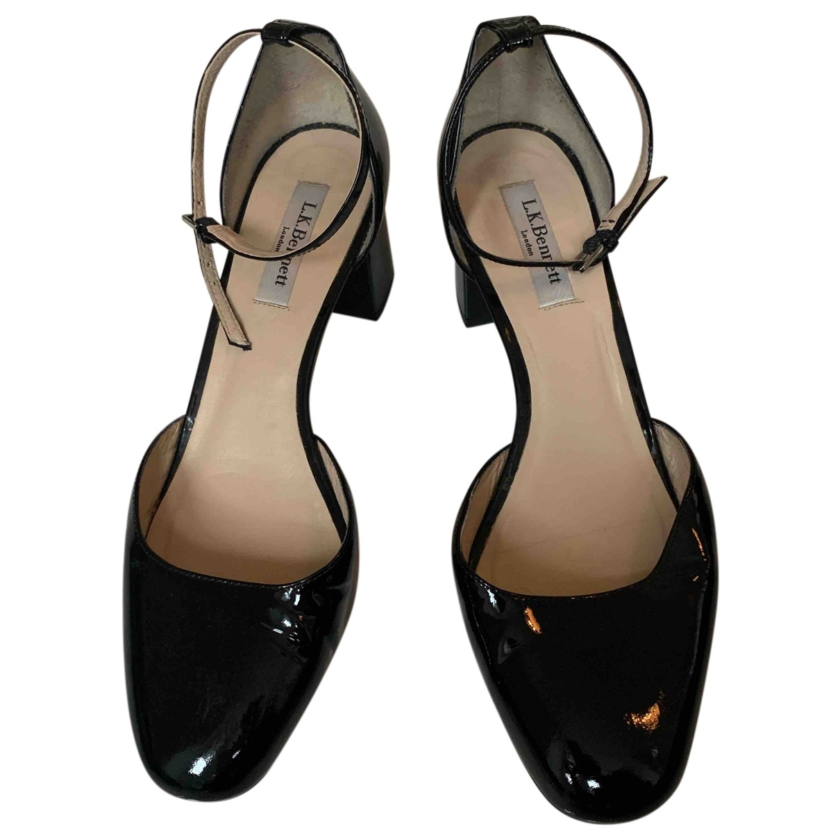 Lk Bennett \N Black Patent leather Heels for Women 41 EU