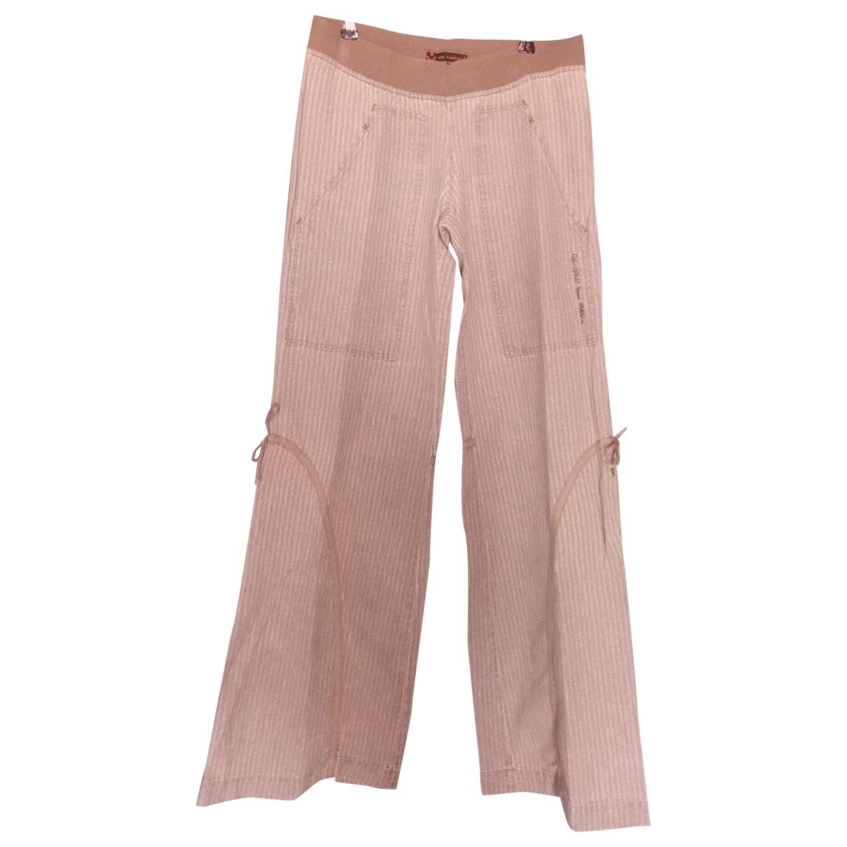 Pantalon recto de Lino Cop Copine