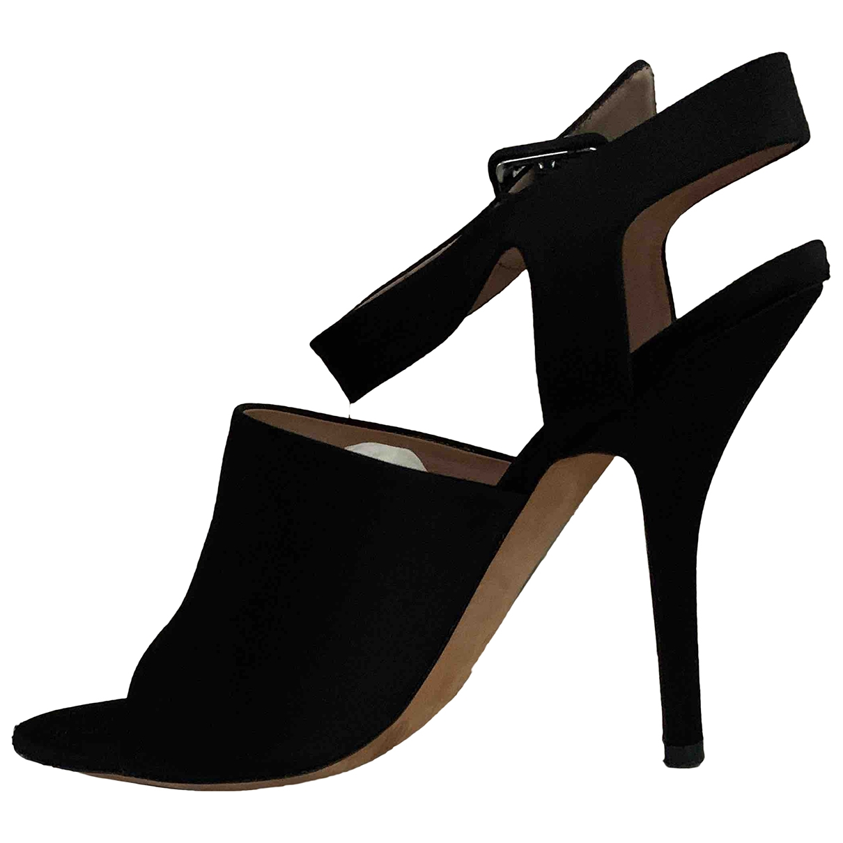 Celine - Sandales   pour femme en toile - noir
