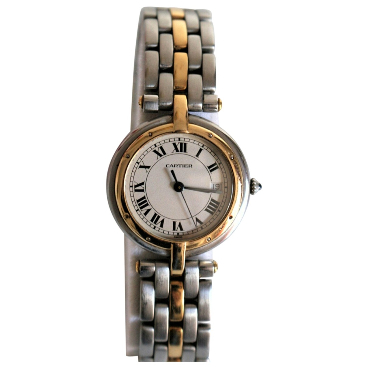 Cartier Panthere Vendome Uhr in  Silber Gold und Stahl