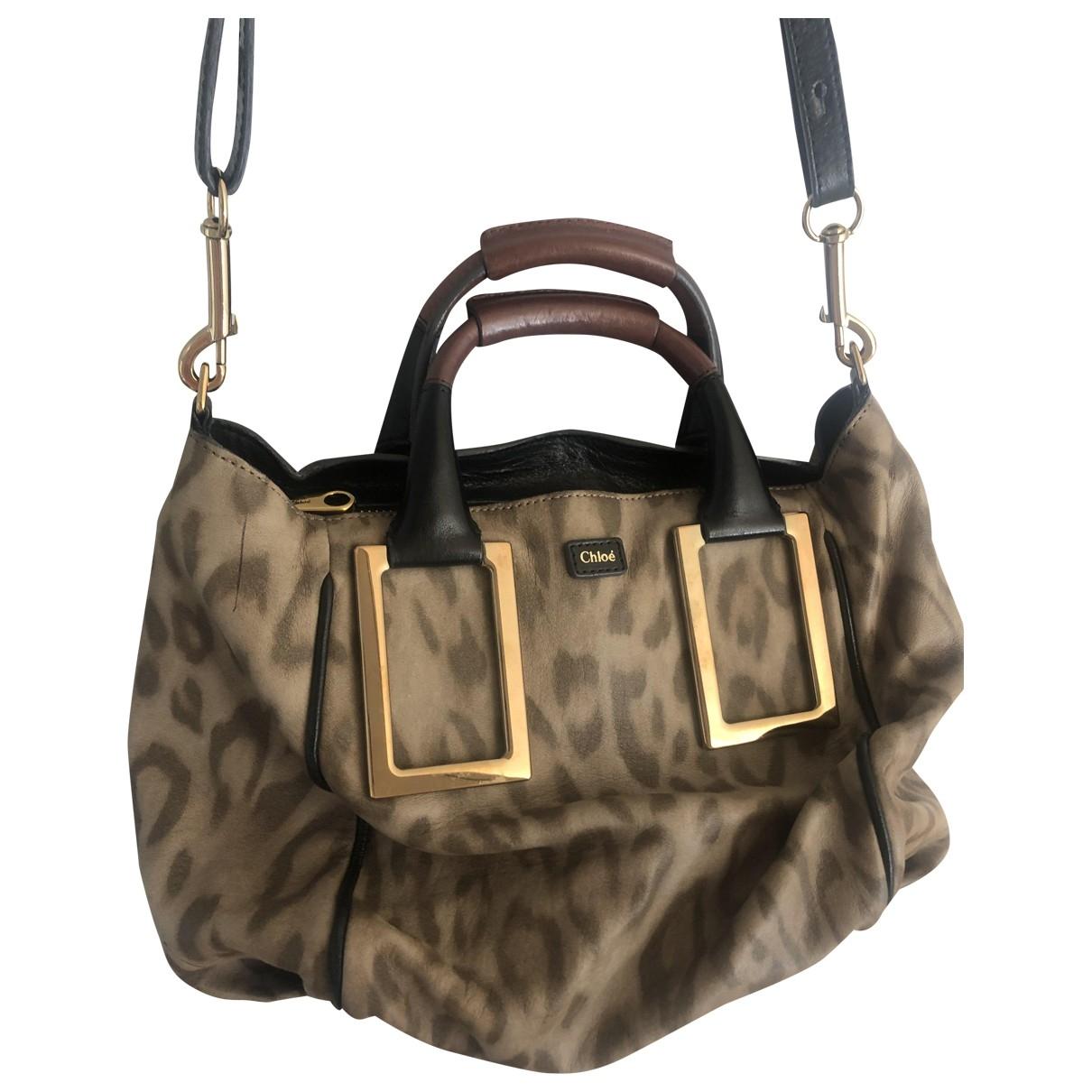 Chloé Ethel Beige Leather handbag for Women \N