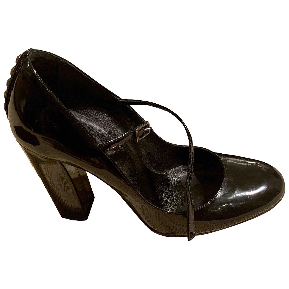 The Kooples - Escarpins   pour femme en cuir verni - noir