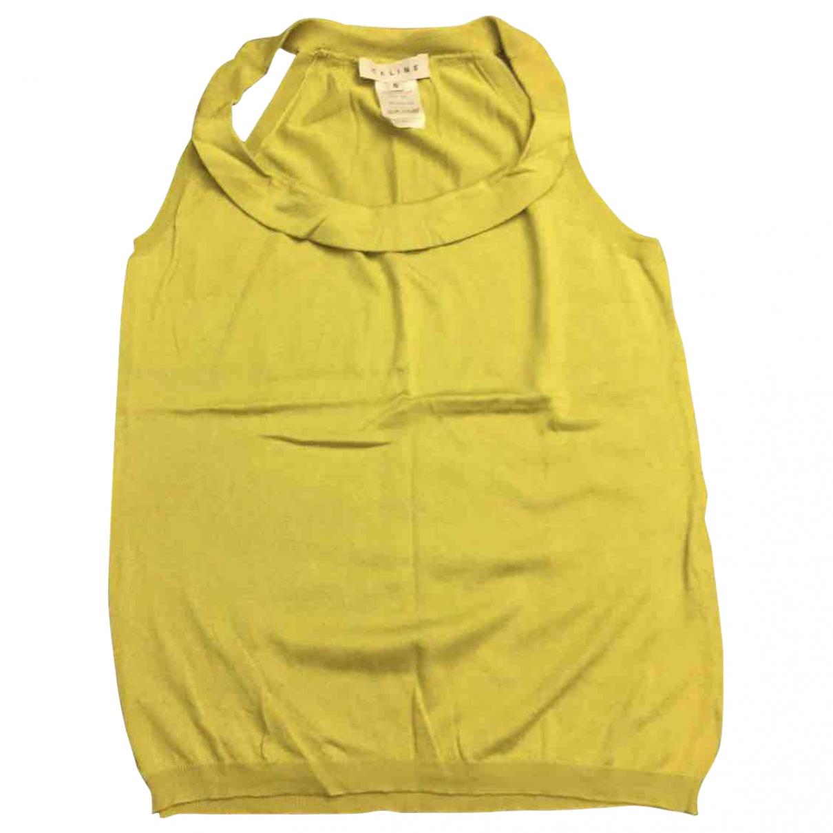 Celine \N Top in  Gelb Seide