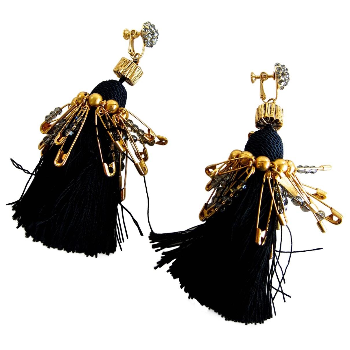 Marc Jacobs - Boucles doreilles   pour femme en plaque or - noir