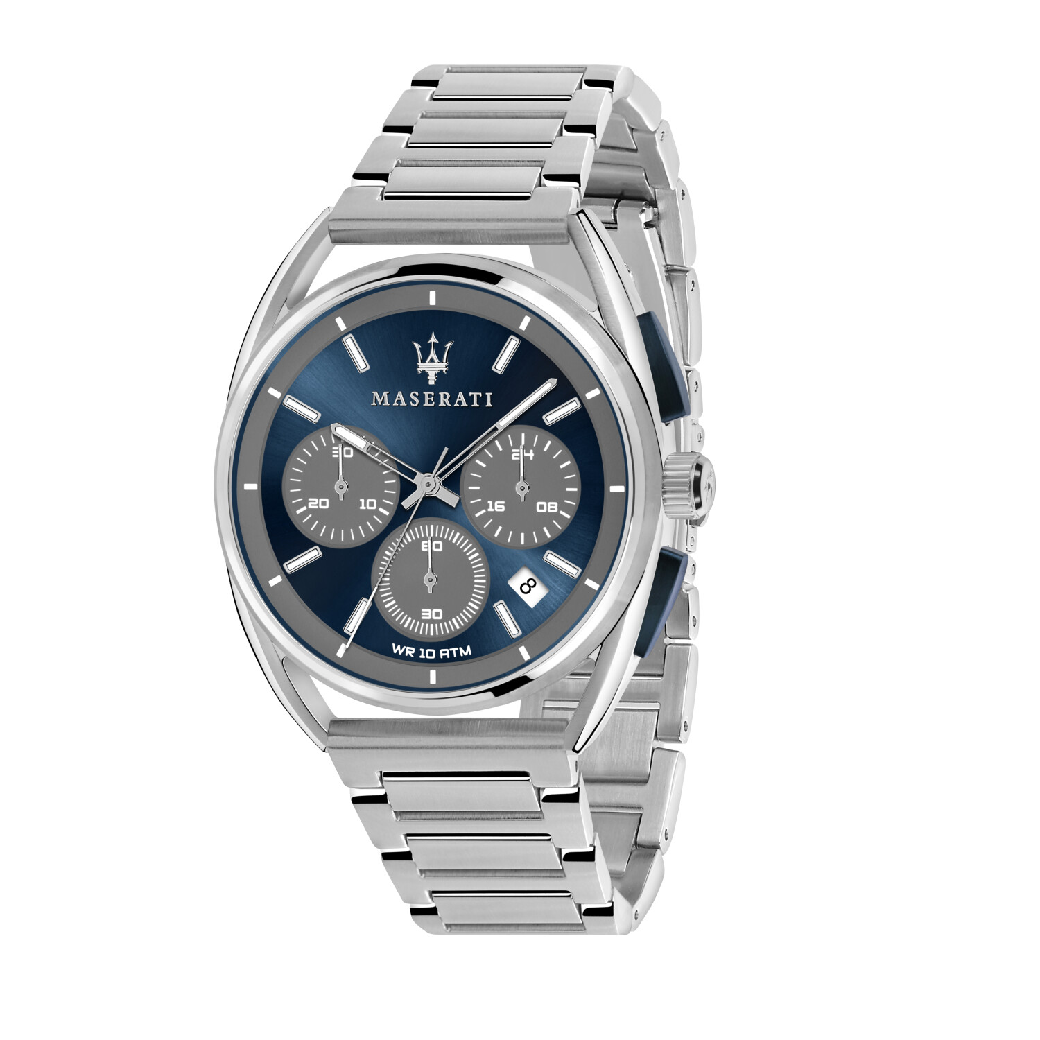 Maserati Watch Trimarano Chronograph, 24-Hour Display, Date Window-Blue / Grey