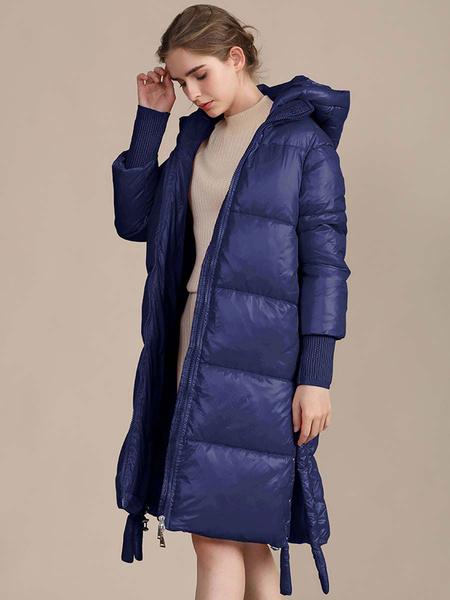 Milanoo Abrigos acolchados para mujer Abrigo largo de invierno de manga larga con cremallera y preservacion del calor