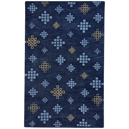 Capel Inc. Cococozy Geneva Hand Tufted Rectangular Indoor Rugs, One Size , Blue