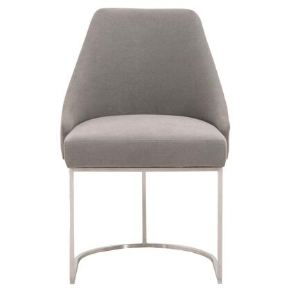6011.LPSLA-BSTL Parissa Collection 6011.Lpsla-Bstl Set Of 2 Dining Chairs In Slate And Stainless