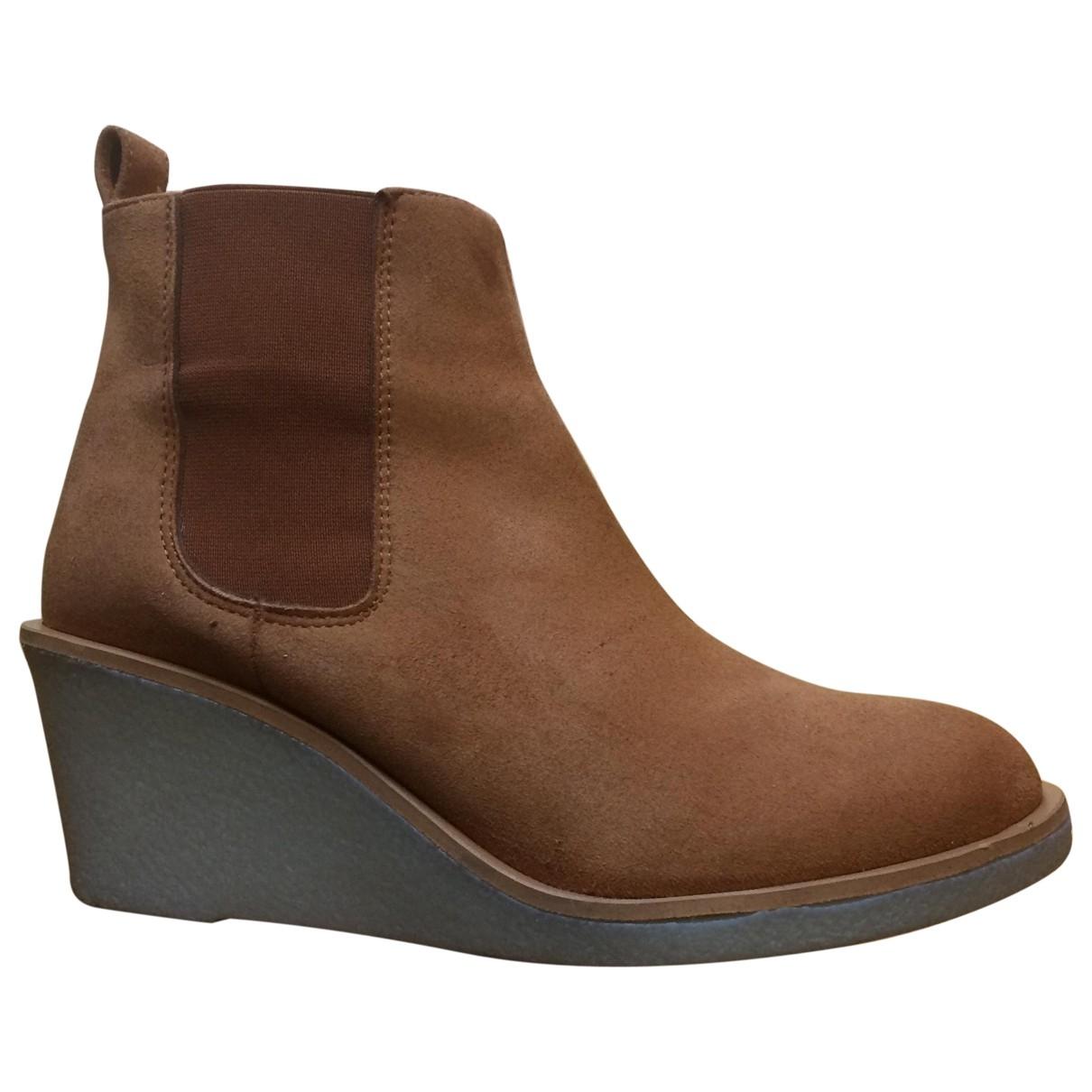 Good Guys - Boots   pour femme en fourrure synthetique - jaune