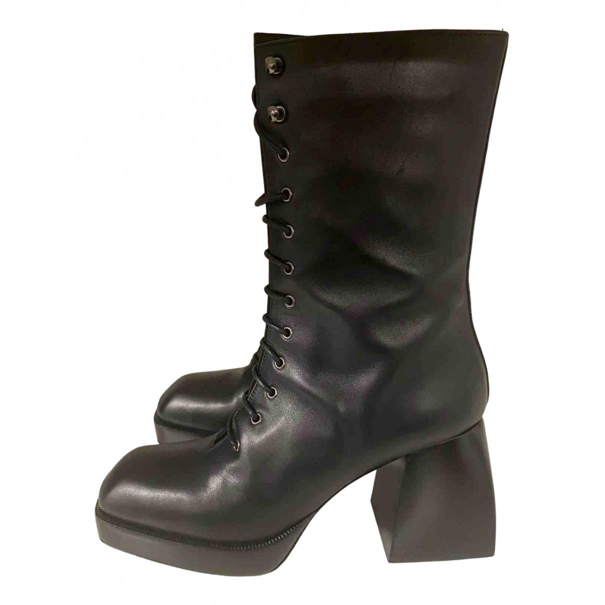 Nodaleto - Bottes   pour femme en cuir - noir