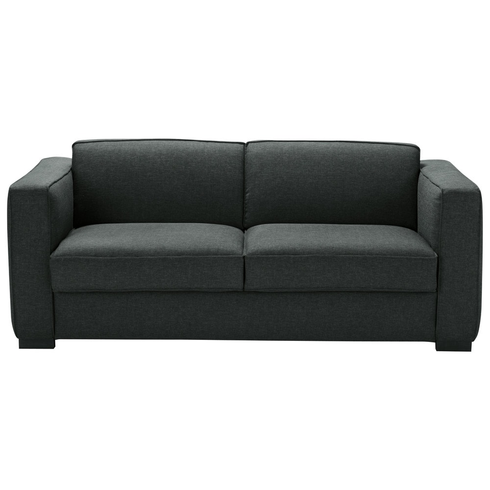 Ausziehbares 3-Sitzer-Sofa, anthrazitgrau Berlin