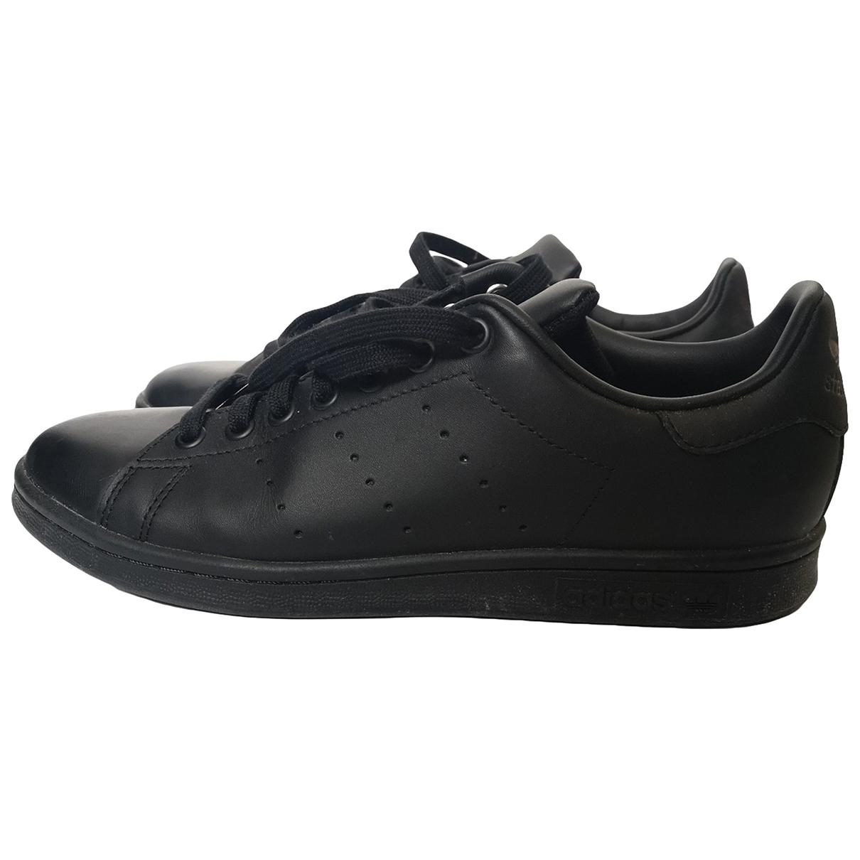 Adidas Stan Smith Sneakers in  Schwarz Leder