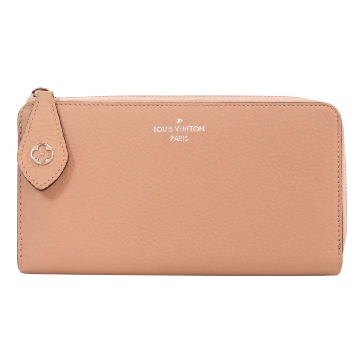 Louis Vuitton - Portefeuille Zippy pour femme en cuir - rose